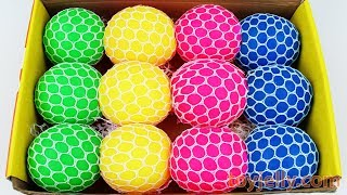 Squishy Slime Mesh Balls Box Kids Playset Learn Colors Baby Finger Song Kinder Joy Surprise Egg Toys