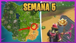 CHALLENGE SECRET - ROAD TRIP #5 - CHALLENGES WEEK 5 - FORTNITE