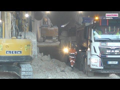 Visite du chantier de la future gare Éole Nanterre-la-Folie