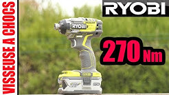 visseuse à chocs RYOBI 270 Nm brushless (+ versus MAKITA 175 Nm) one+ cordless impact driver