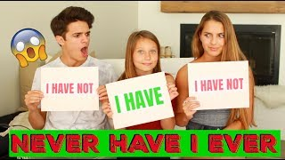 NEVER HAVE I EVER w/ Little Sister and Cousin! | Brent Rivera thumbnail