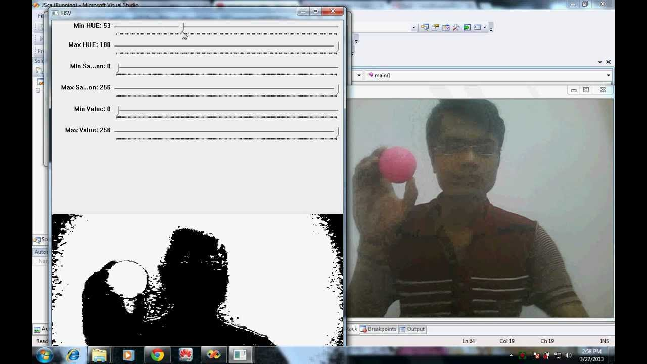 Get Hsv Value Of Object Using Opencv Youtube