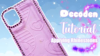 Rhinestone Decoden Tutorial [How to Deco][4K]
