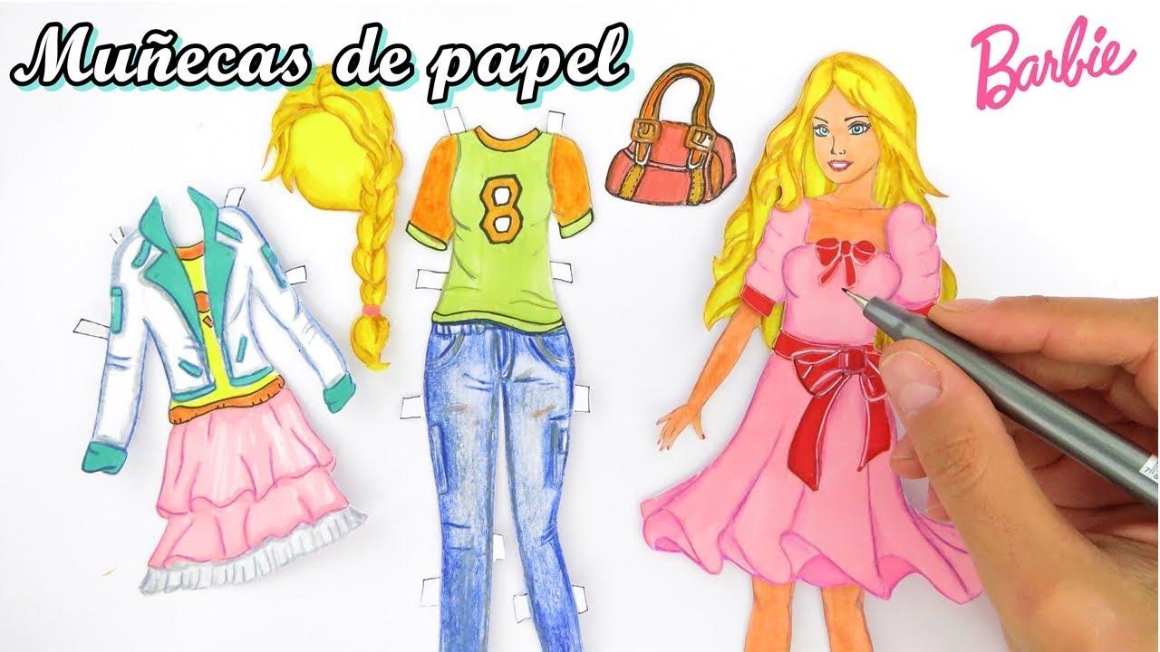 Mu ecas de papel ropas para barbie de papel dibujar y - Papel para dibujar ...