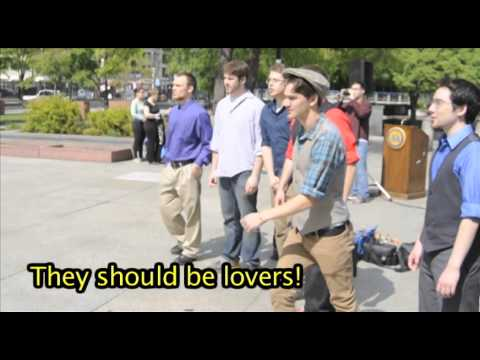 Elephant Love Medley Flashmob Proposal at Love Park