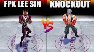 FPX Lee Sin vs Knockout Lee Sin Skin Comparison (League of Legends)