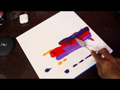 Satisfying landscape / Abstract Painting / Demonstration /Easy and Fun/ Daily art