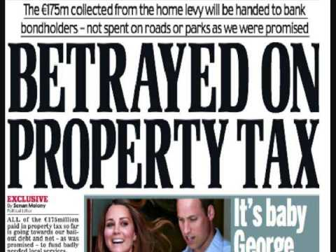 More lies by Irish Government as Property Tax pays Bondholders