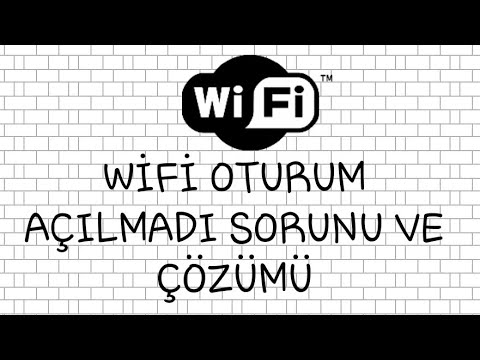 Wifi Oturum Açma Sorunu (EN GÜNCEL ÇÖZÜM)