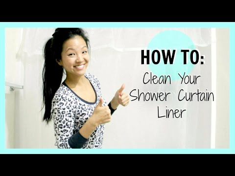 How To: Clean Your Shower Curtain Liner | now&jenn