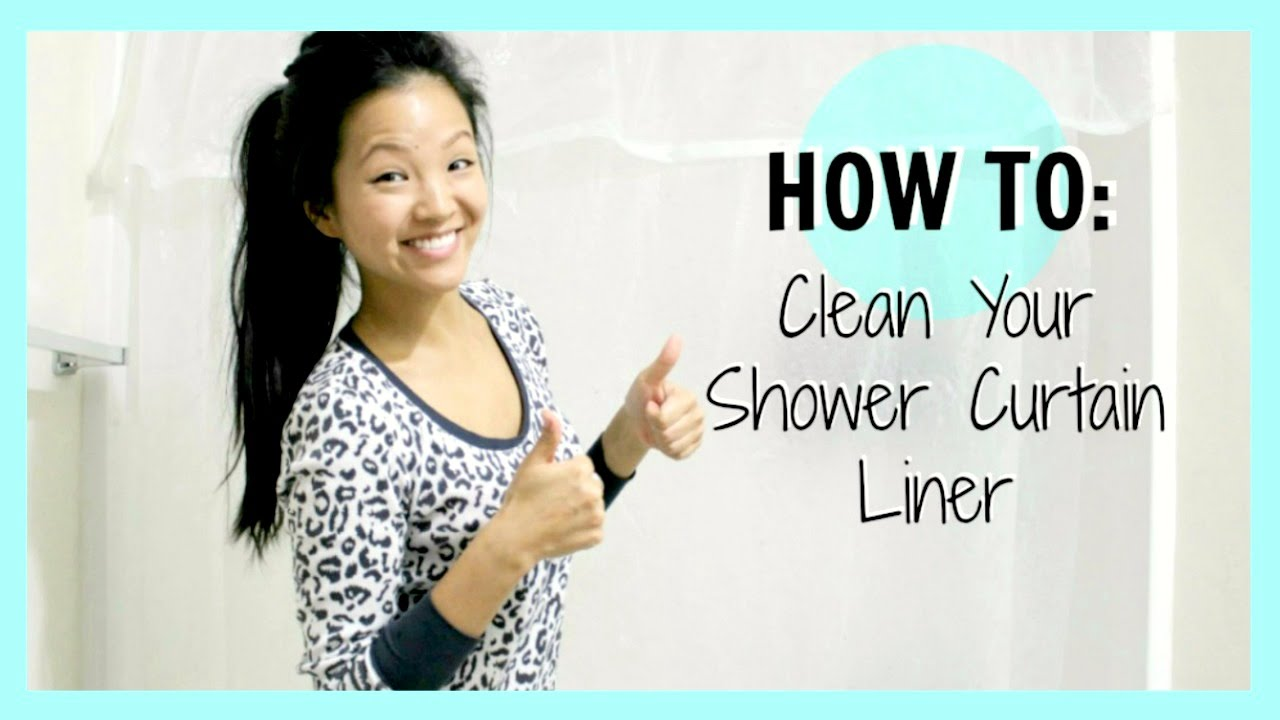 How To Clean Your Shower Curtain Liner Now Jenn Youtube