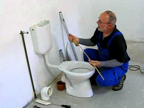 stand wc und sp lkasten montage teil 1 youtube. Black Bedroom Furniture Sets. Home Design Ideas