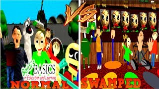 NORMAL vs SWAMPED - Baldi's Basics ROBLOX GAMEPLAY
