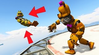throwing nightmare animatronics off world s tallest skyscrapers gta 5 mods fnaf funny moments
