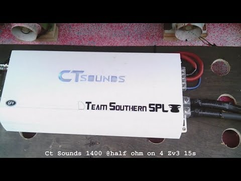CT sounds 1400 @half ohm on 4 15s Walled