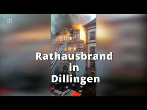 Rathaus Dillingen Brennt