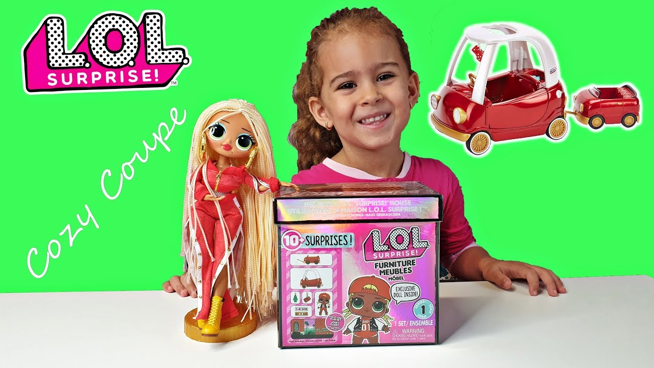 Swag Doll New LOL Surprise Furniture Set Cozy Coupe Car Playset Exclusive M.C