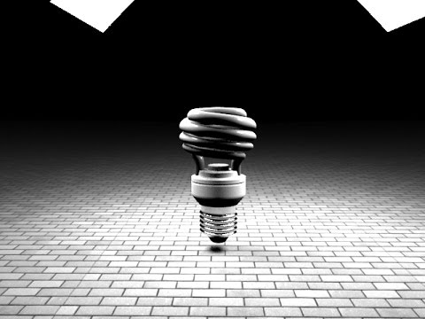 spiral cfl Bulb making in 3ds max
