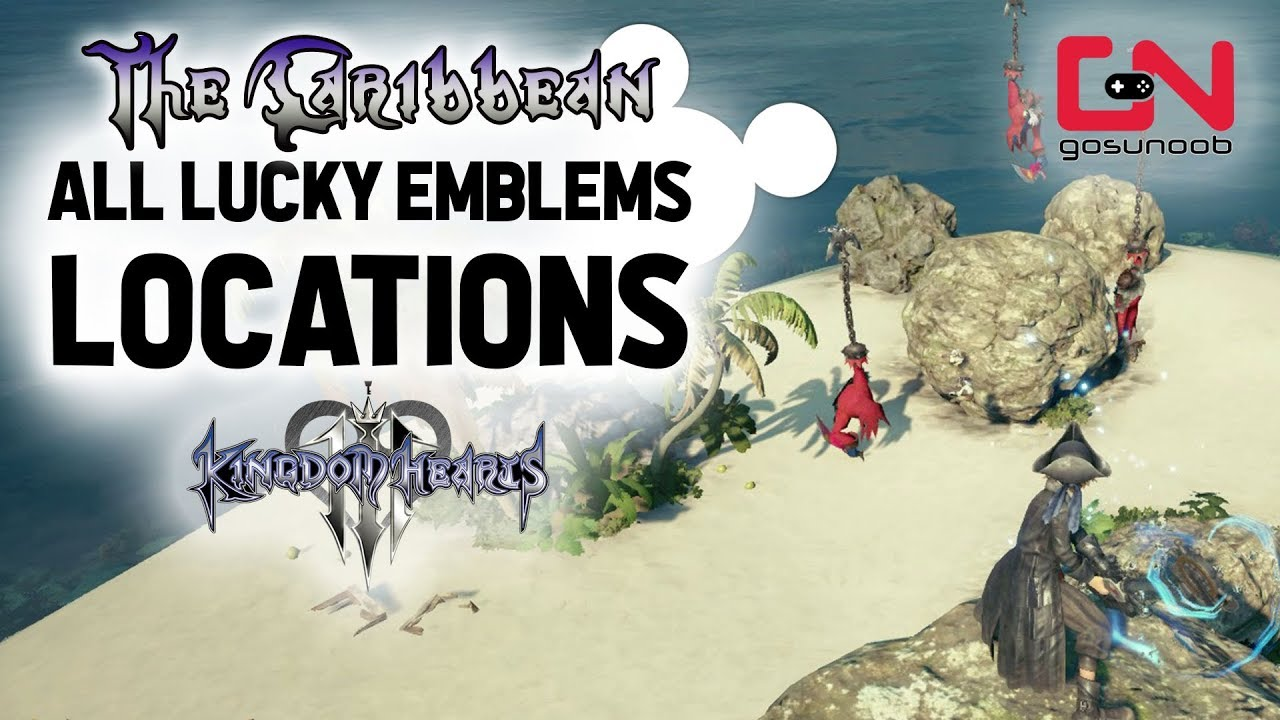 Kingdom Hearts 3 The Caribbean All Lucky Emblems Locations Youtube