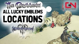 Kingdom Hearts 3 - The Caribbean - All Lucky Emblems Locations