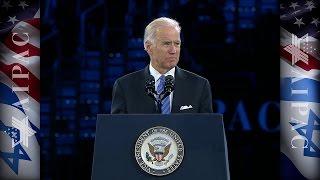 us vice president joe biden addresses aipac
