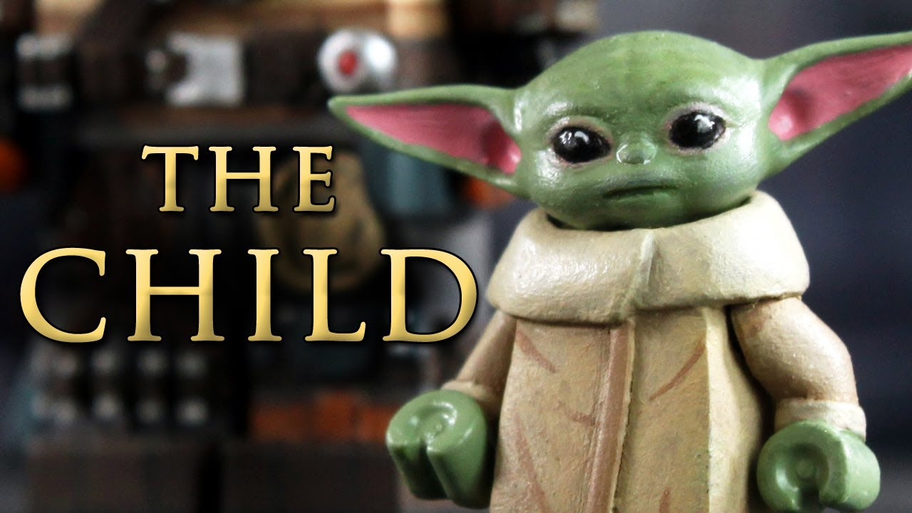 Custom Lego Star Wars Baby Yoda Minifigure w// Accessories PLEASE READ DESCRIP.
