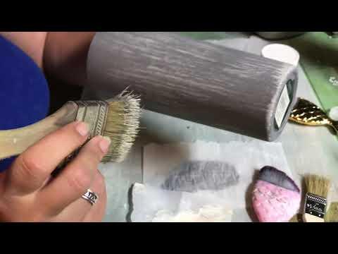 Wood-look, whitewashed tumbler paint