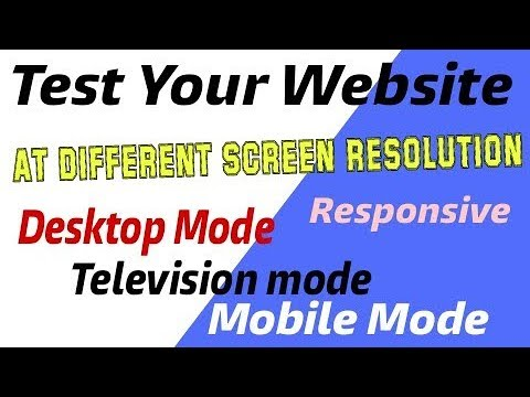 test your website at different screen resolutions with screenfly