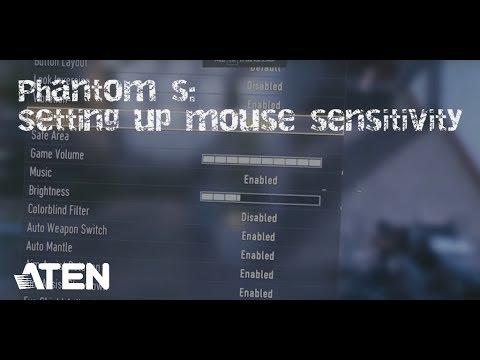 How to Setup a Phantom S / Part 2 - Setting up Mouse Sensitivity
