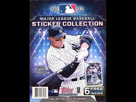 f7acb149b19 Box Busters  2018 Topps MLB Stickers - YouTube