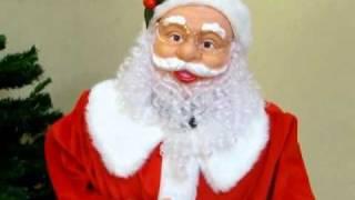 Papai Noel Eletrônico - 1,2m em pé - c/ música e movimento - Bivolt - E27284 - Natália Christmas thumbnail