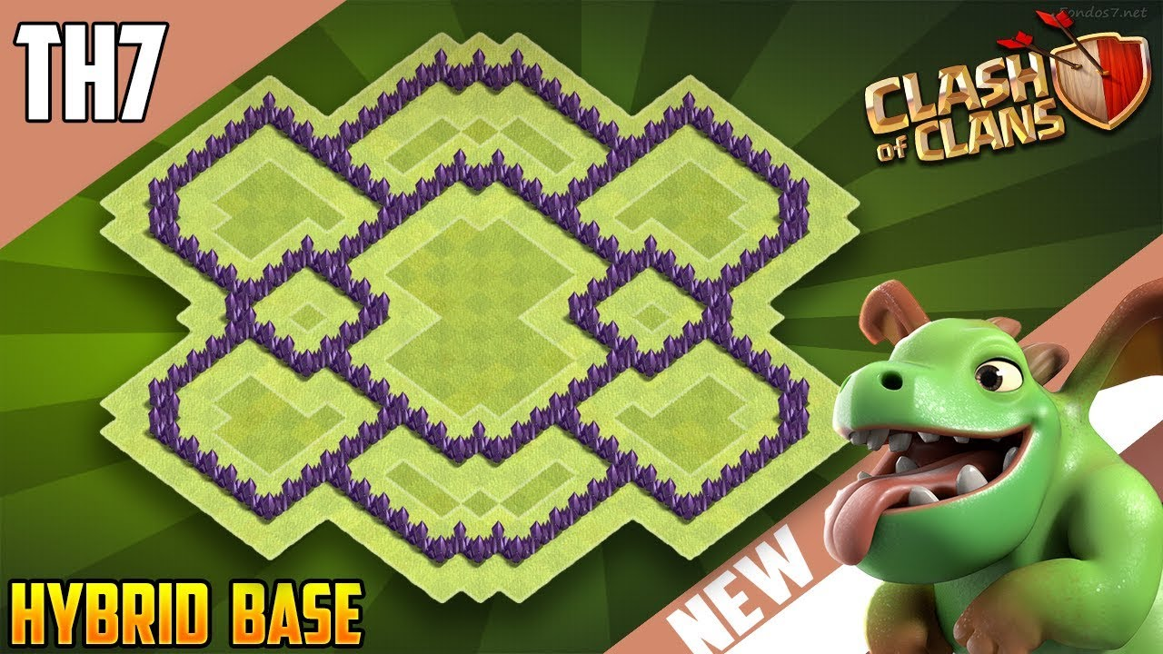 New Insane Town Hall 7 Th7 Hybrid Base 2018 Coc Best Design Clash Of Clans