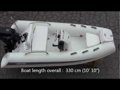 Grand Inflatable Boat G340ef With 20hp Tohatsu Outboard