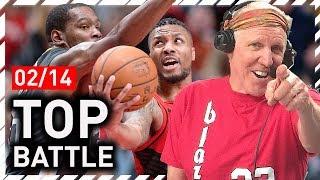 Damian Lillard vs Kevin Durant EPIC Duel Highlights (2018.02.14) Warriors vs Blazers - MUST SEE