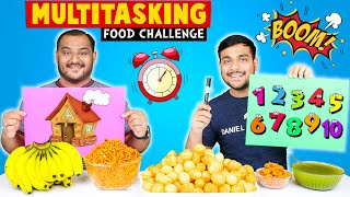 MULTITASKING FOOD EATING CHALLENGE | Funny Pani Puri & Noodles Challenge | Viwa Food World