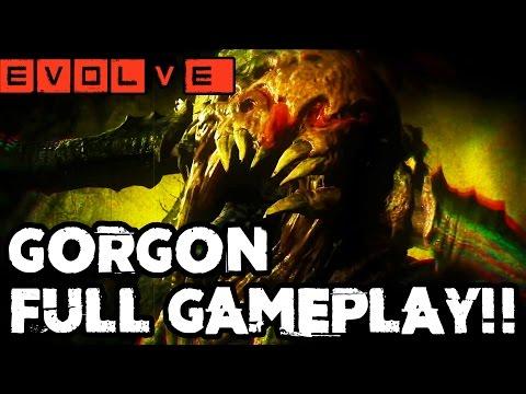 GORGON EMERGES!! Evolve Gameplay Walkthrough - Multiplayer (Gorgon Gameplay PC 1080p)