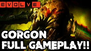 GORGON EMERGES!! Evolve Gameplay Walkthrough - Multiplayer (Gorgon Gameplay PC 1080p)