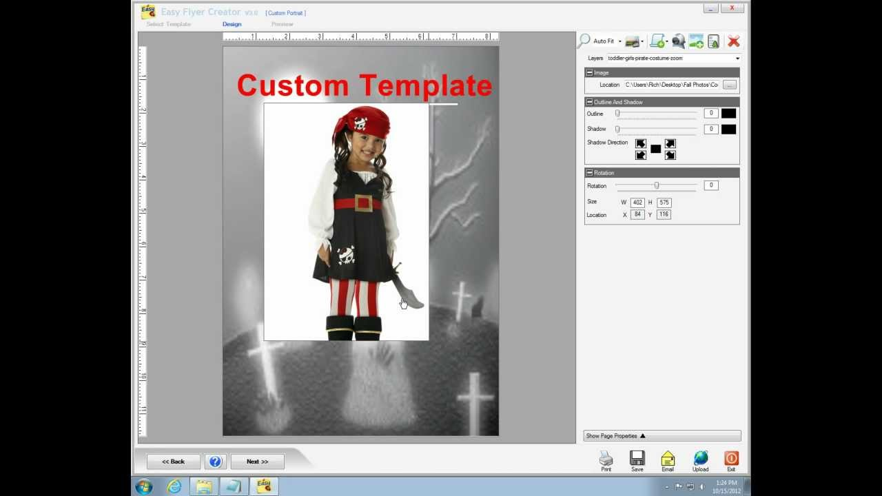 How to Create a Business flyer with Easy Flyer Creator 3.0.wmv - YouTube