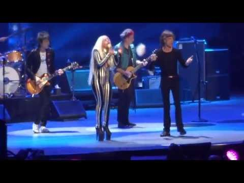 """Rolling Stones - with Lady Gaga """"Gimme Shelter"""" @ Newark, N.J. 15/12/12"""