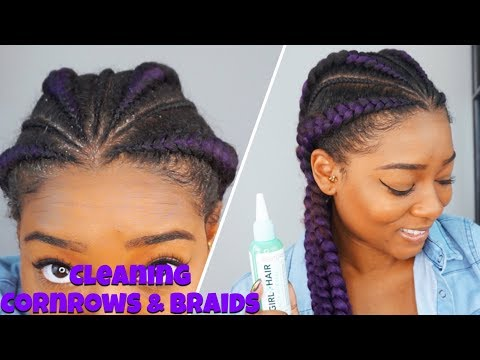 Product Build Up? | How to Clean Cornrows, Braids & Twists WITHOUT WASHING