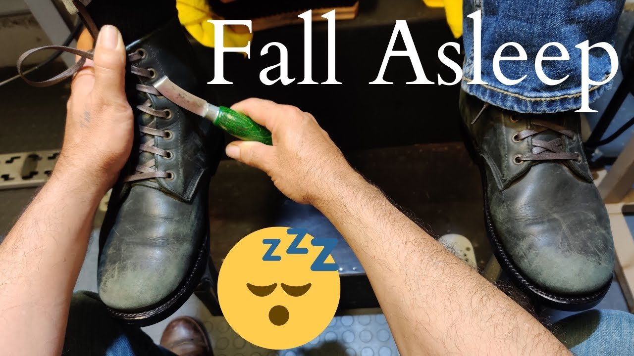 ANOTHER AMAZING BOOT TRANSFORMATION!!! | ANGELO SHOE SHINE ASMR