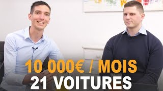 10 000 EUROS par MOIS avec 21 VOITURES à 27 ANS ! Romain POUZIN