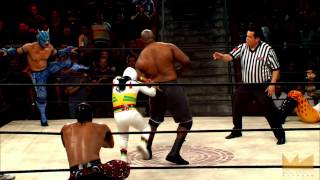 Lucha Underground 12/17/14: 10 WAY MATCH - Mascarita vs. Big Ryck
