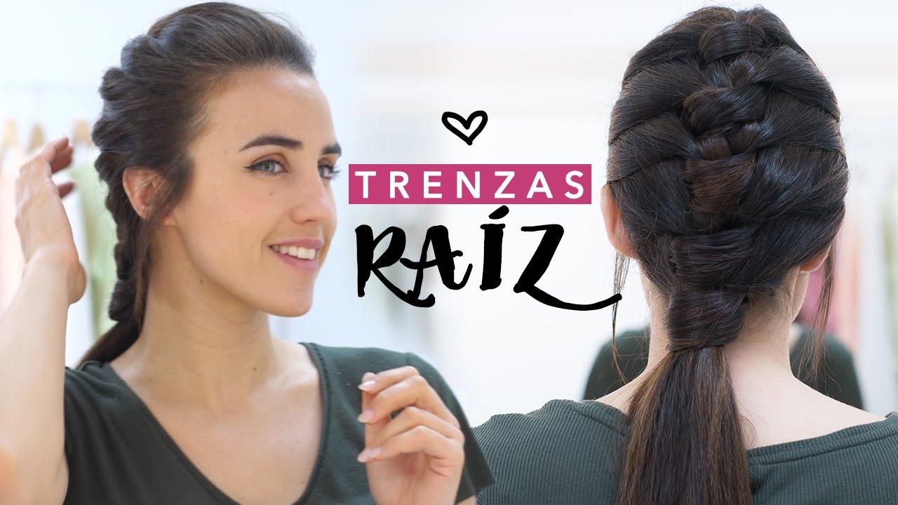 Peinados Con Trenza De Raiz Moderna Paso A Paso Youtube - Peinados-con-trenzaa