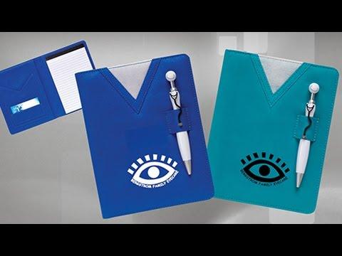 Logo Scrubs Notebook with Stethoscope Pen