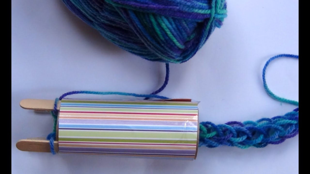 Recycled Craft How To Make A French Knitting Machine