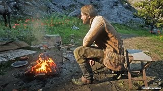 Red Dead Redemption 2 - Hunting/Eating Rabbit & Setting Up Camp Mission Gameplay (RDR2)