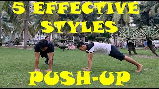 Body Workout at HOME - 5 MOST Effective Styles of Push up  - Home Workout Exercises