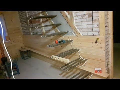 Самая простая консольная лестница для дачи своими руками ч-1 a cantilevered staircase
