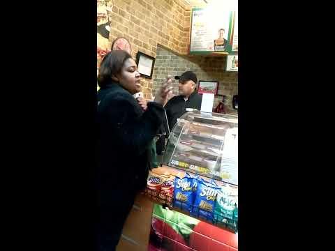 crazy woman at subway